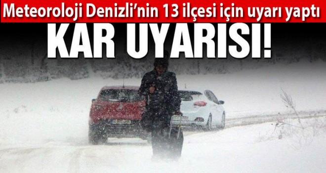 13 ilçeye kar merkeze yağmur