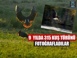 9 yılda 315 kuş türünü fotoğrafladılar