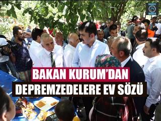 Bakan Kurum'dan Depremzedelere Ev Sözü