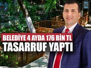 Belediye 4 Ayda 176 Bin TL Tasarruf Yaptı