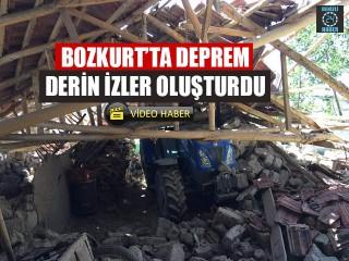 Bozkurt'ta Deprem Derin İzler Oluşturdu