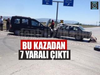 Bu Kazadan 7 Yaralı Çıktı