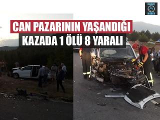 Can Pazarının Yaşandığı Kazada 1 Ölü 8 Yaralı