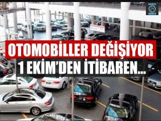 Otomobillerde önemli değişiklik
