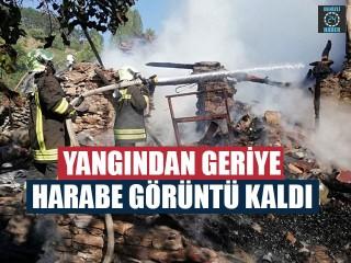Yangından Geriye Harabe Görüntü Kaldı
