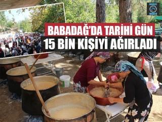Babadağ'da Tarihi Gün 15 Bin Kişiyi Ağırladı