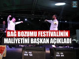 Bağ Bozumu Festivalinin Maliyetini Başkan Açıkladı