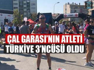 Çal Garası'nın Atleti Türkiye 3'ncüsü Oldu