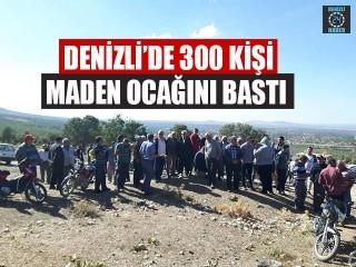 Denizli'de 300 Kişi Maden Ocağını Bastı