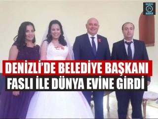 Denizli'de Belediye Başkanı Faslı İle Dünya Evine Girdi