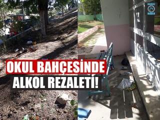 Okul Bahçesinde Alkol Rezaleti!