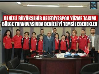 Denizli Büyükşehir Belediyespor Yüzme Takımı Bölge Turnuvasında Denizli'yi Temsil Edecekler