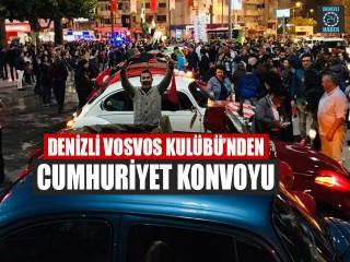 Denizli Vosvos Kulübü'nden Cumhuriyet Konvoyu