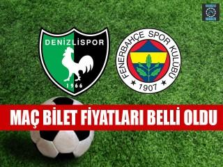 Denizlispor – Fenerbahçe bilet fiyatı