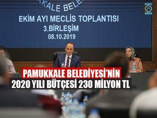 Pamukkale Belediyesi'nin 2020 Yılı Bütçesi 230 Milyon TL