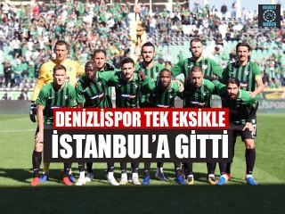 Denizlispor Tek Eksikle İstanbul'a Gitti