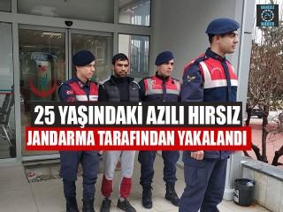 25 Yaşındaki Azılı Hırsız Jandarma Tarafından Yakalandı