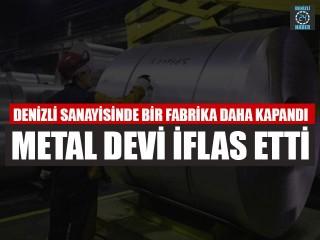 Denizli sanayisinde bir fabrika daha kapandı