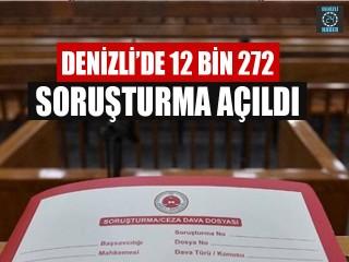 Denizli'de 12 Bin 272 Soruşturma Açıldı