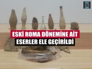 Eski Roma Dönemine Ait Eserler Ele Geçirildi
