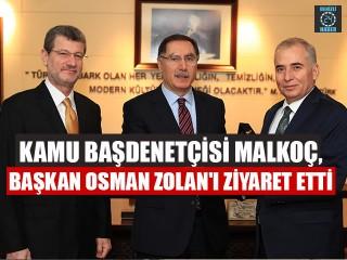 Kamu Başdenetçisi Malkoç, Başkan Osman Zolan'ı Ziyaret Etti