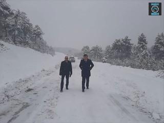 Kütahya Altıntaş ilçesinde karla mücadele