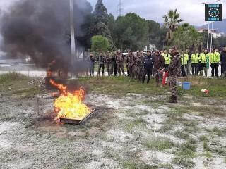 Manisa polisi yangın eğitimi aldı
