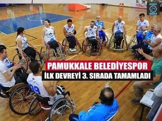 Pamukkale Belediyespor ilk devreyi 3. Sırada tamamladı