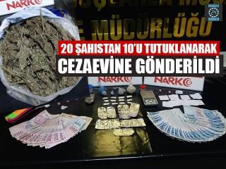 20 Şahıstan 10'u Tutuklanarak Cezaevine Gönderildi