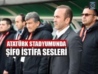 Atatürk Stadyumunda Şifo İstifa Sesleri