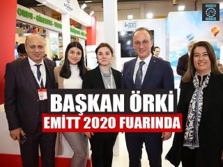 Başkan Avni Örki Emitt 2020 Fuarında