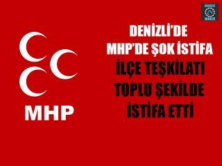 Denizli MHP'de şok istifa