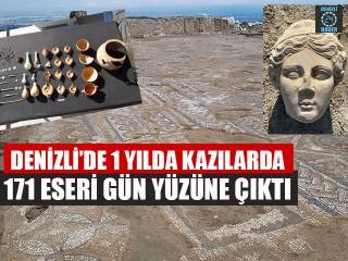Denizli'de 1 Yılda Kazılarda 171 Eseri Gün Yüzüne Çıktı