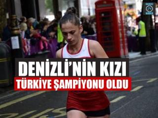 Denizli'nin Kızı Ümmü Kiraz Atletizmde Türkiye Şampiyonu Oldu