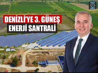 Denizli'ye 3. Güneş enerji santrali