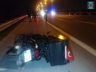 İzmir Buca'da motosiklet sürücüsü Haldun Aydoğdu hayatını kaybetti
