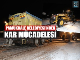 Pamukkale Belediyesi'nden Kar Mücadelesi