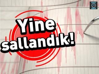 Yine sallandık! Manisa'da yine deprem