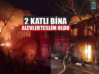 2 Katlı Bina Alevler Teslim Oldu