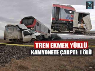 Afyonkarahisar'da Tren ekmek yüklü kamyonete çarptı: Nazmi Yıldırım öldü