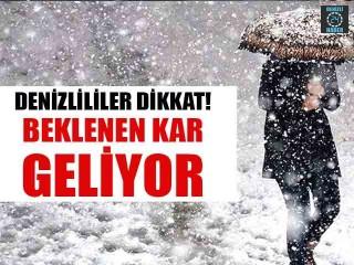 Denizli'ye kar ne zaman yağacak? Meteoroloji'den uyarı...