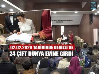 Denizli'de Evlenmek İçin 02.02.2020 Tarihini Seçtiler