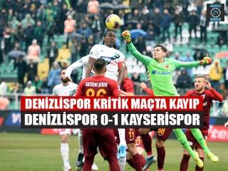 Denizlispor Kritik Maçta Kayıp Denizlispor 0-1 Kayserispor