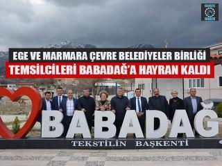 Ege Ve Marmara Çevre Belediyeler Birliği Temsilcileri Babadağ'a Hayran Kaldı