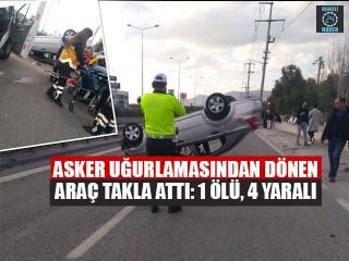 İzmir Bornova'da Ferdi Kara takla atan araçta hayatını kaybetti