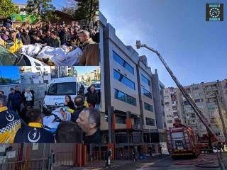 İzmir Konak'ta özel bir hastanede yangın