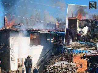 Kütahya Pazarlar'da ev yangını