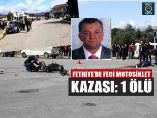Muğla Fethiye'de otomobille motosiklet çarpıştı Celal kaba öldü