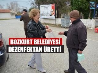 Bozkurt Belediyesi Dezenfektan Üretti