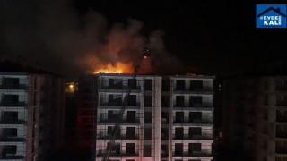 Afyonkarahisar Güvenevler Mahallesi'ndeki İnşaatın Çatısında Yangın